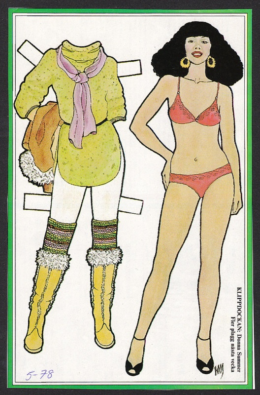 Donna Summer Paper Doll