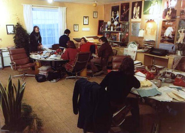 Island Records Office in 1974