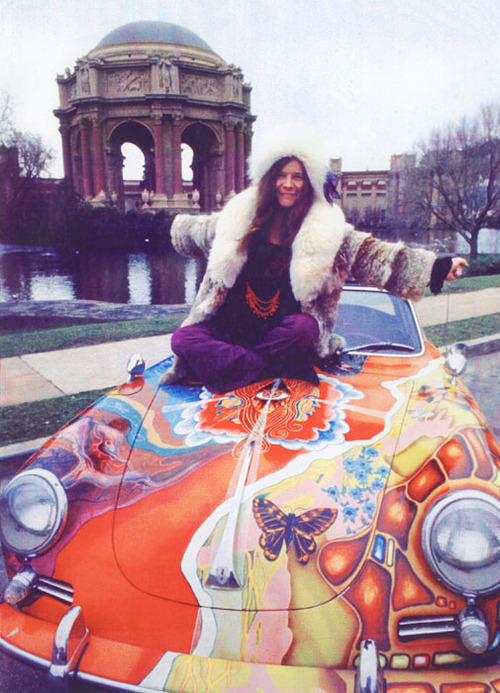 Psychedelic Janis Joplin Car