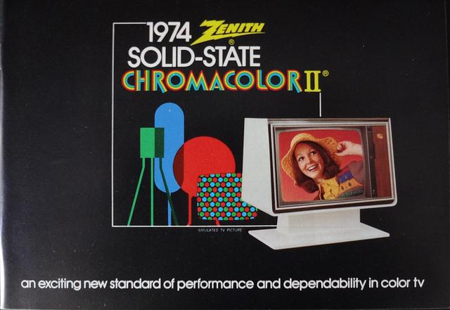 Zenith Television Brochure 1974