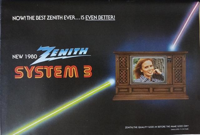 Zenith Television Brochure 1980