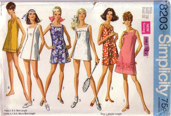 1969 Tennis Sewing Pattern