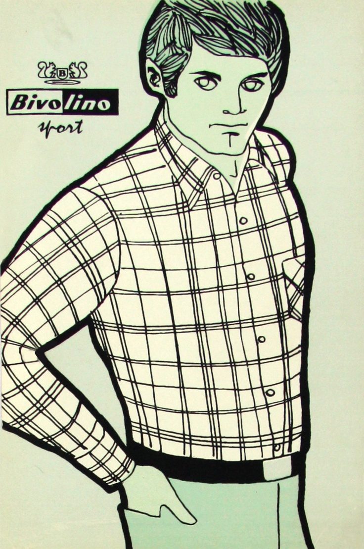 Bivolino check shirt advert