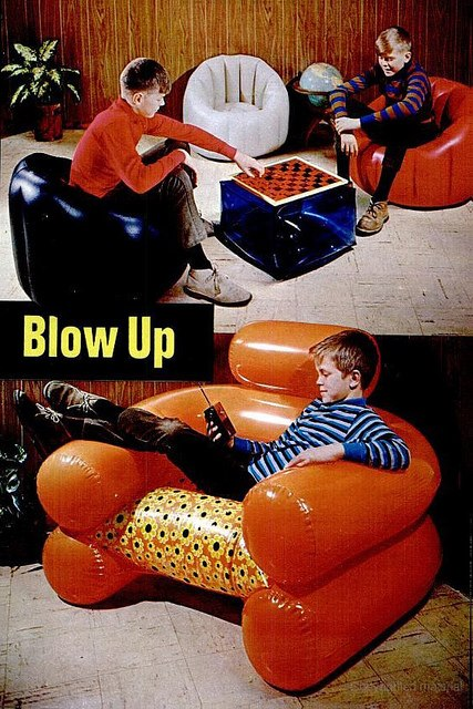 Blow-up chair