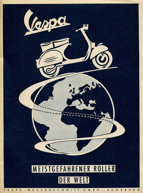 German Vespa Scooter Advert