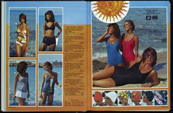 Ladies 1970s swimwear