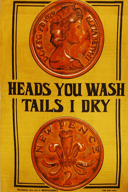 Tails tea towel