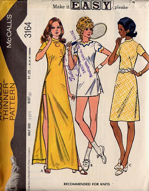 Tennis 1960s Pattern