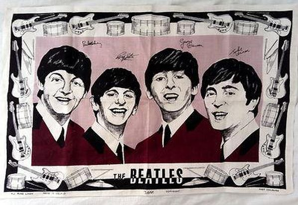 The Beatles Tea Towel