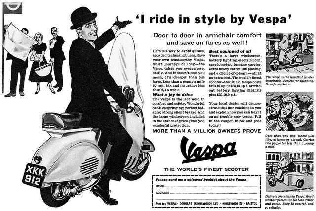 Vespa London Advert