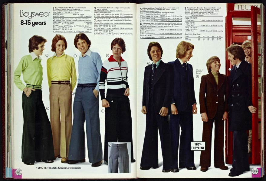 boys clothing 1977