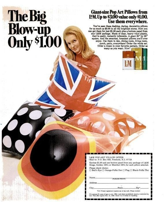 Blow-up cushions