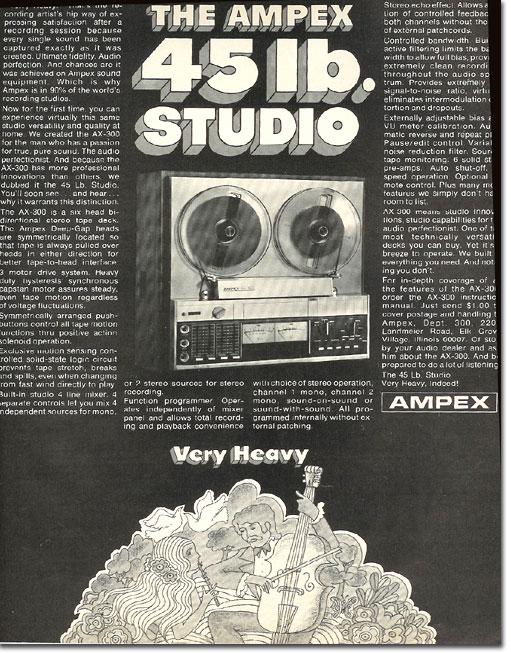 ampex 1971 ad