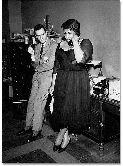 Hugh Hefner and Ella Fitzgerald