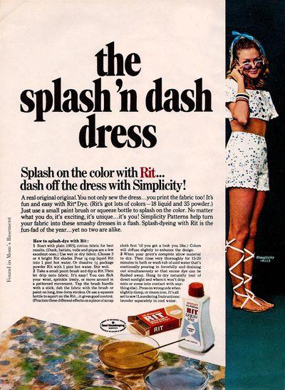 1969 dye advert