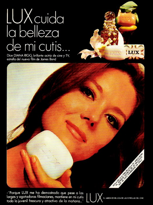 Diana Rigg Soap Advert