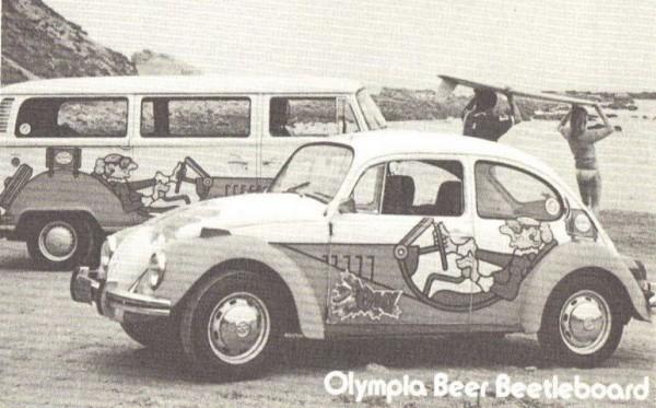 Beetleboard Olympia Beer