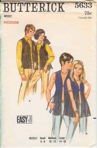 1960s vest pattern
