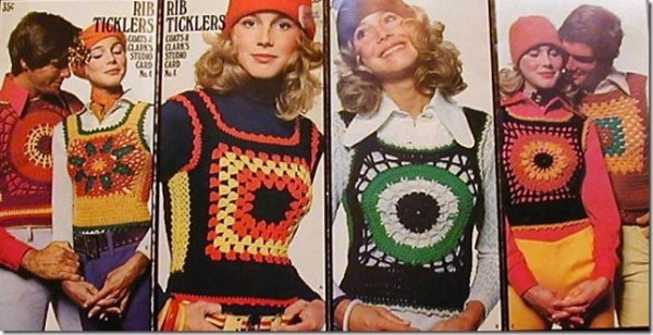 70s knitted vests
