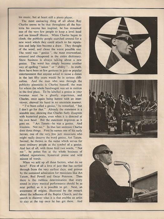 Ray Charles 1963 Brochure