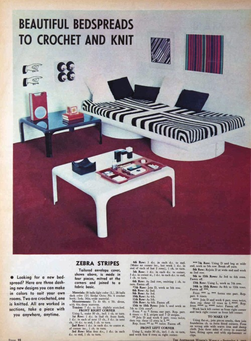 Australian women's Weekly 1960s room