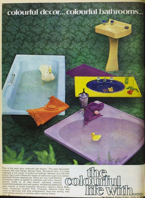 Australian women's Weekly 1970s Bathroom