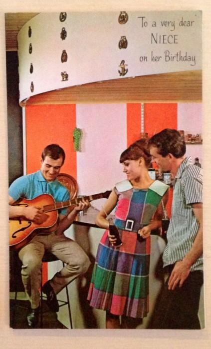 1960s Birthday Card