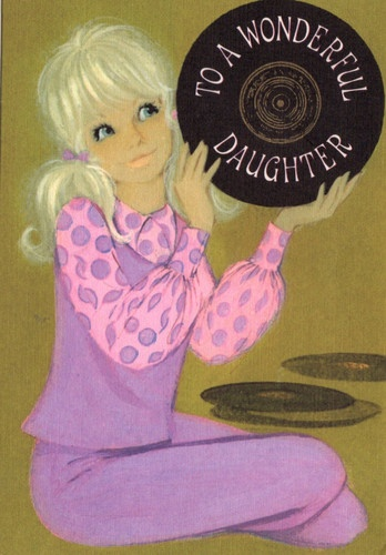 Daughter Birthday Card 1960s