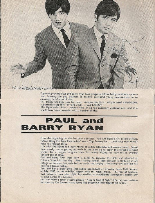 Paul and Barry Ryan