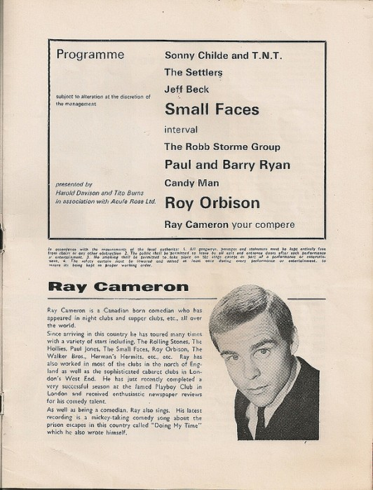 Small Faces and Roy Orbison