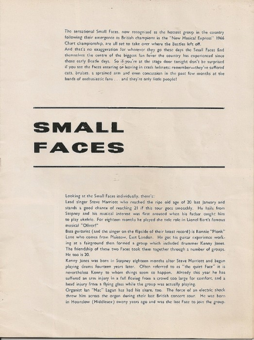 Tour Small Faces