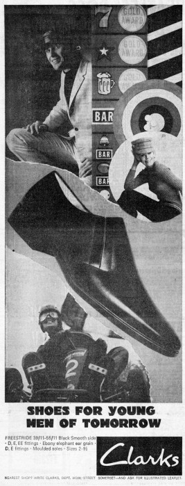 clarks shoes 1960s ad